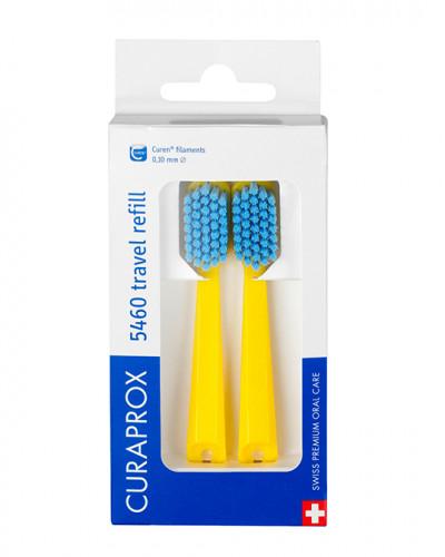 Travel set spare brush head for CS 5460, yellow, 2 pcs.