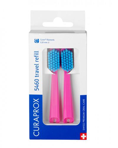 Travel set spare brush head for CS 5460, pink, 2 pcs.