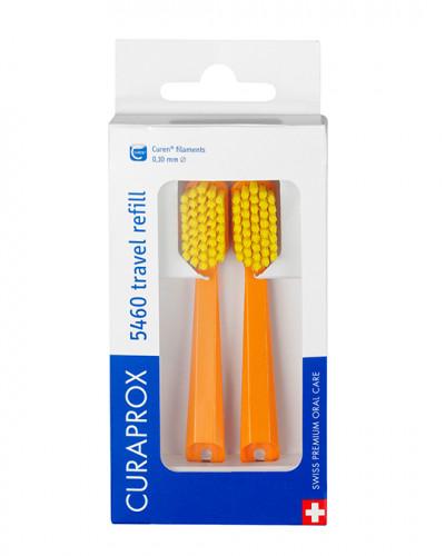 Travel set spare brush head for CS 5460, orange, 2 pcs.